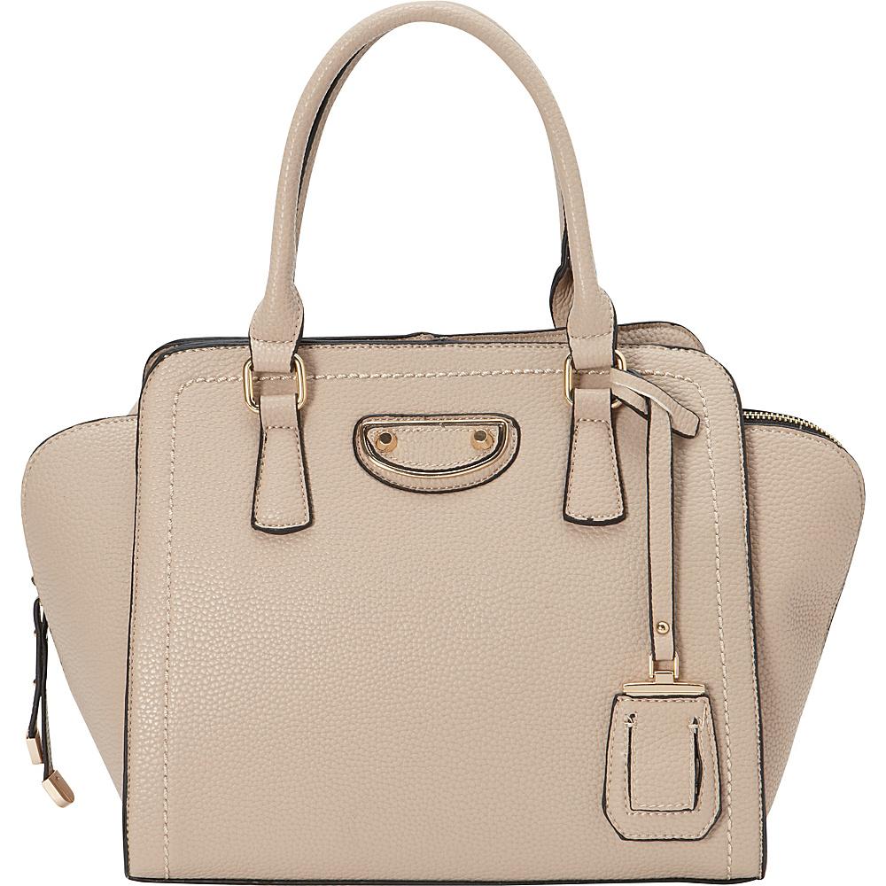 La Diva Olivia Satchel BEIGE La Diva Manmade Handbags