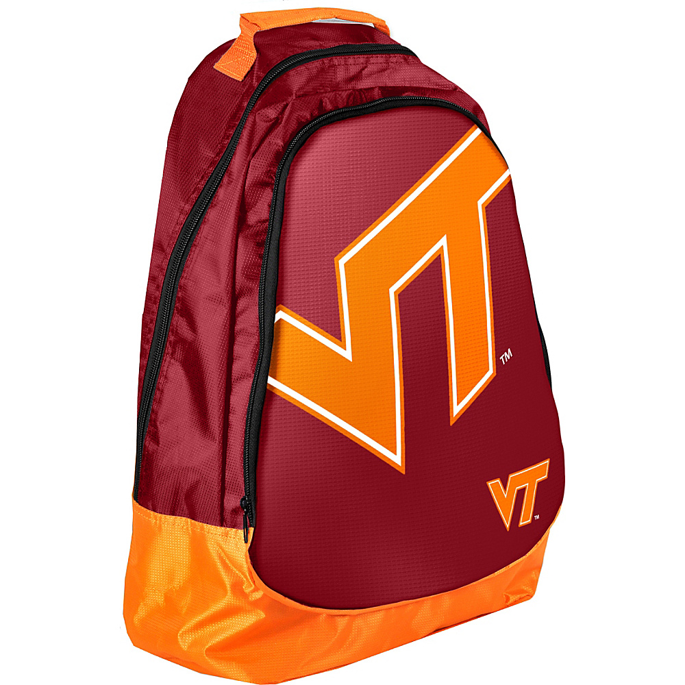 Forever Collectibles NCAA Forever Collectibles Core Structured Backpack Virginia Tech University Hokies Red Forever Collectibles Everyday Backpacks