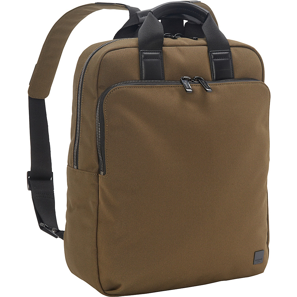 KNOMO London James Tote Backpack Deep Army Green KNOMO London Business Laptop Backpacks