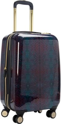 Aimee Kestenberg Ivy 20 inch Carry-On Luggage Midnight Python - Aimee Kestenberg Hardside Carry-On