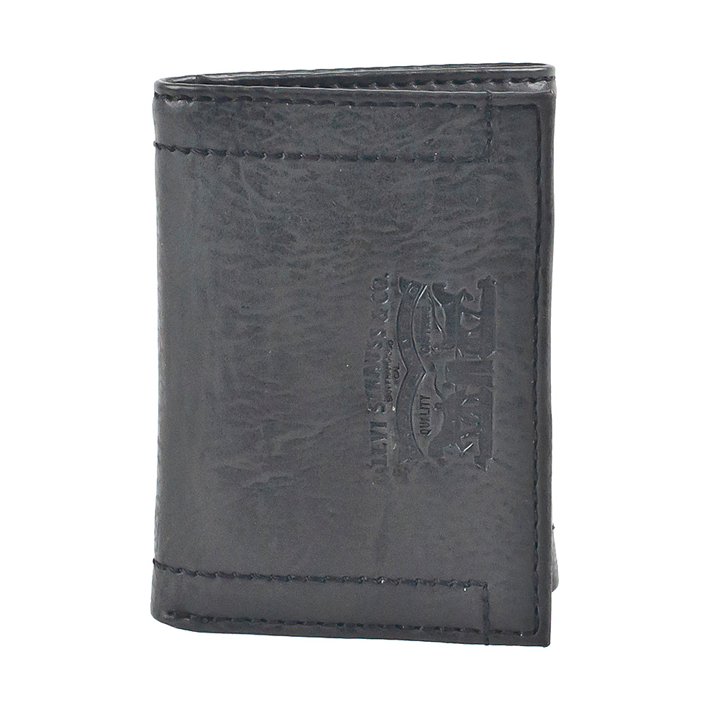 Levi s Trifold Wallet w Embossed logo BLACK Levi s Men s Wallets