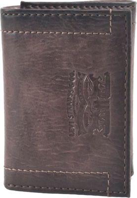 Levi's Trifold Wallet w/ Embossed logo BROWN - Levi's Men's Wallets