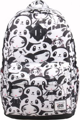 Image of AfterGen Classic Backpack Panda Girl - AfterGen School & Day Hiking Backpacks
