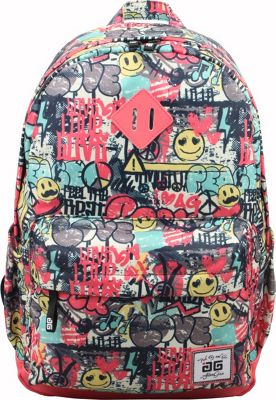 AfterGen Classic Backpack Graffiti Smiley - AfterGen Everyday Backpacks