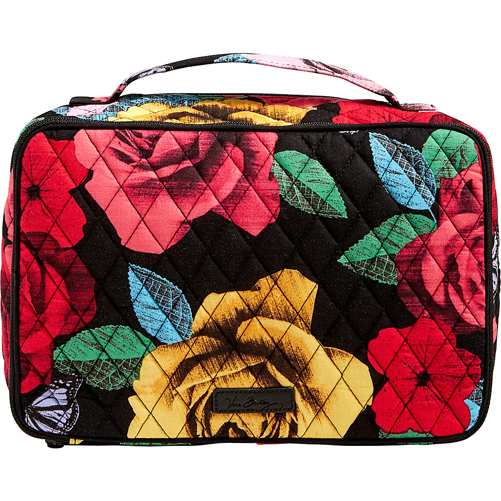 Vera Bradley Large Blush & Brush Makeup Case Havana Rose - Vera Bradley Travel Health & Beauty - Travel Accessories, Travel Health & Beauty