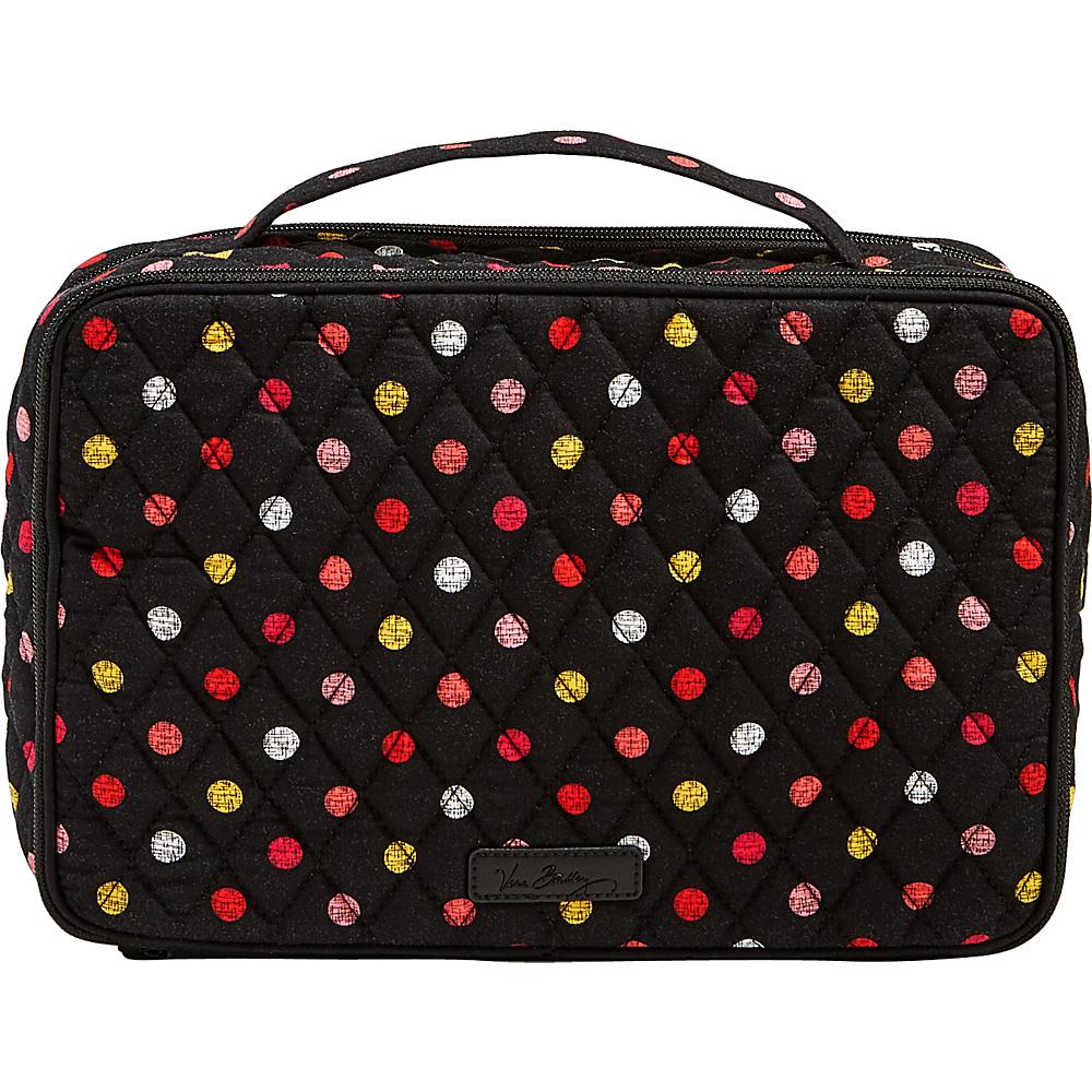 Vera Bradley Large Blush & Brush Makeup Case Havana Dots - Vera Bradley Travel Health & Beauty - Travel Accessories, Travel Health & Beauty