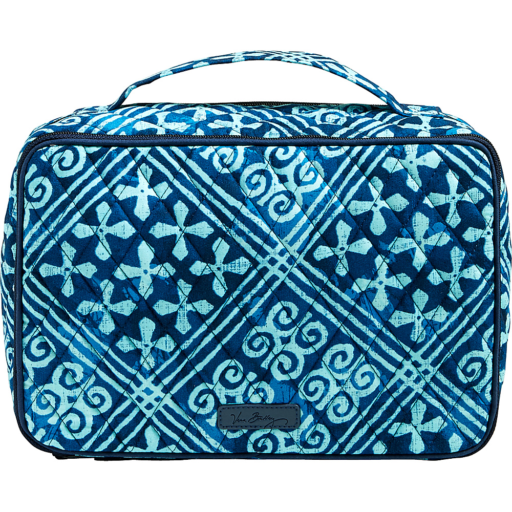 Vera Bradley Large Blush & Brush Makeup Case Cuban Tiles - Vera Bradley Travel Health & Beauty - Travel Accessories, Travel Health & Beauty