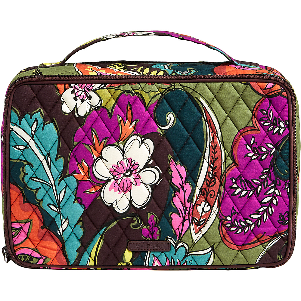 Vera Bradley Large Blush & Brush Makeup Case Autumn Leaves - Vera Bradley Travel Health & Beauty - Travel Accessories, Travel Health & Beauty