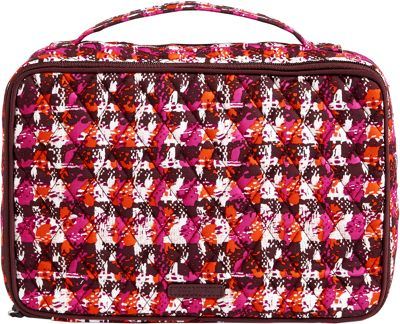 Vera Bradley Large Blush & Brush Makeup Case Houndstooth Tweed - Vera Bradley Travel Health & Beauty