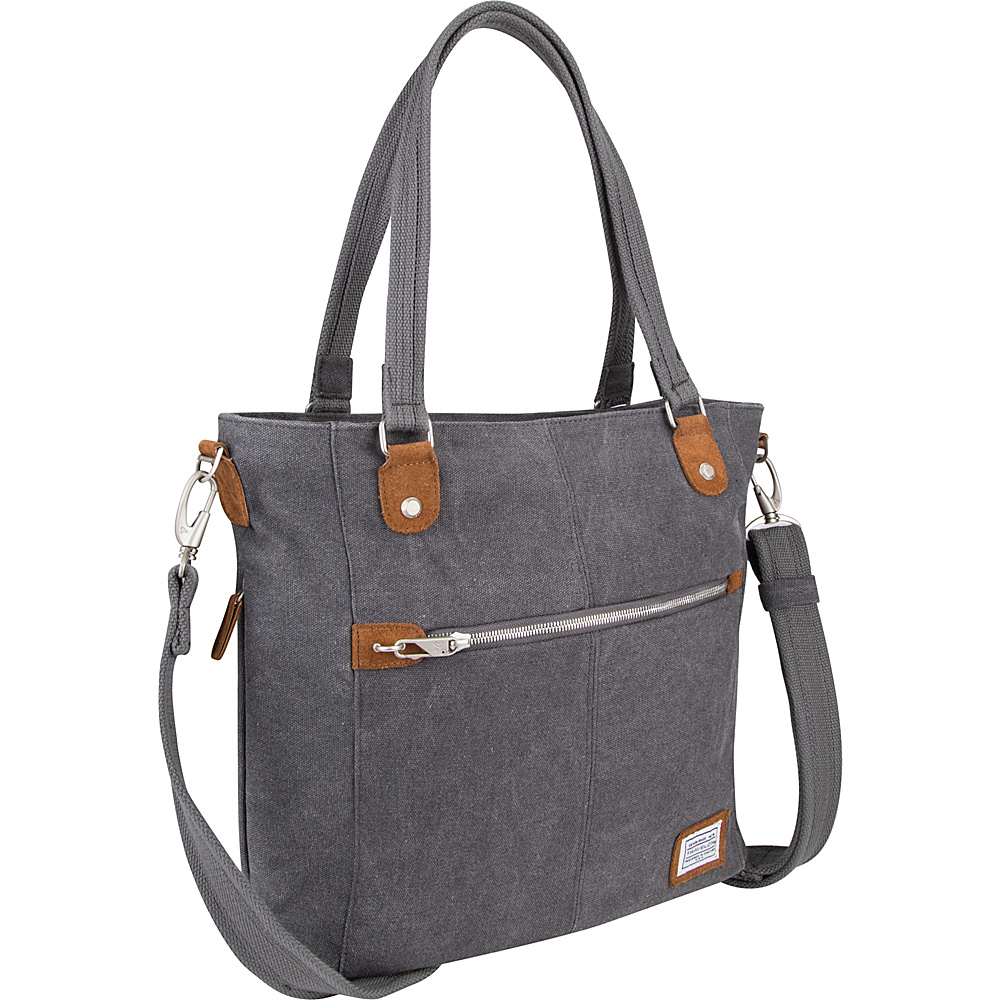 Travelon Anti-Theft Heritage Tote Pewter - Travelon Fabric Handbags - Handbags, Fabric Handbags