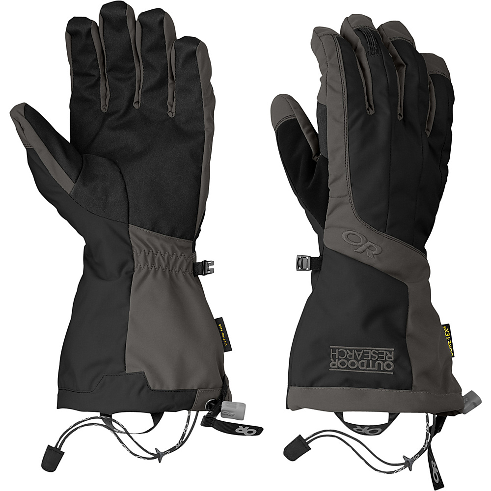 Outdoor Research Arete Gloves XL - Black/Charcoal - Outdoor Research Hats/Gloves/Scarves - Fashion Accessories, Hats/Gloves/Scarves