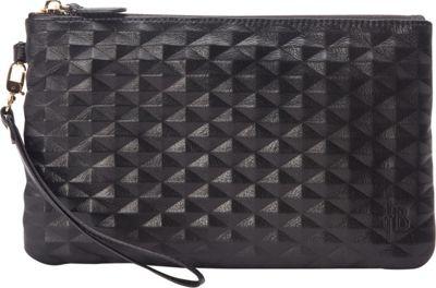 HButler The Mighty Purse Wristlet Diamond Black - HButler Leather Handbags