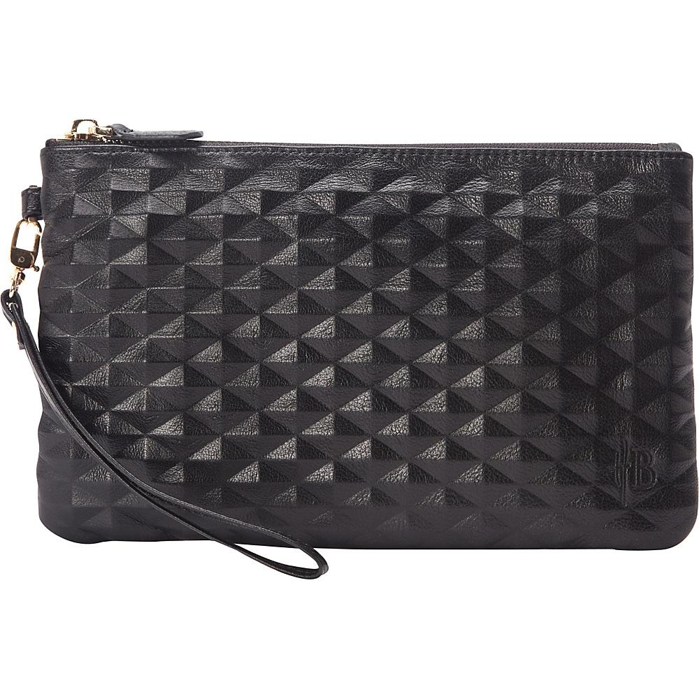 HButler The Mighty Purse Wristlet Diamond Black HButler Leather Handbags