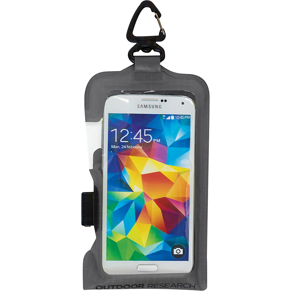 Outdoor Research Sensor Dry Pocket Premium  Smartphone Large Charcoal – One Size - Outdoor Research Electronic Cases - Technology, Electronic Cases