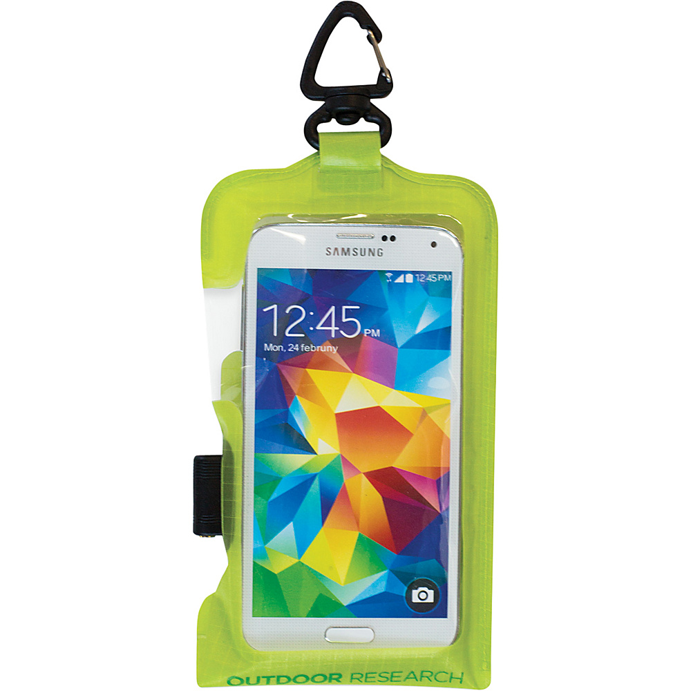 Outdoor Research Sensor Dry Pocket Premium  Smartphone Large Lemongrass – One Size - Outdoor Research Electronic Cases - Technology, Electronic Cases