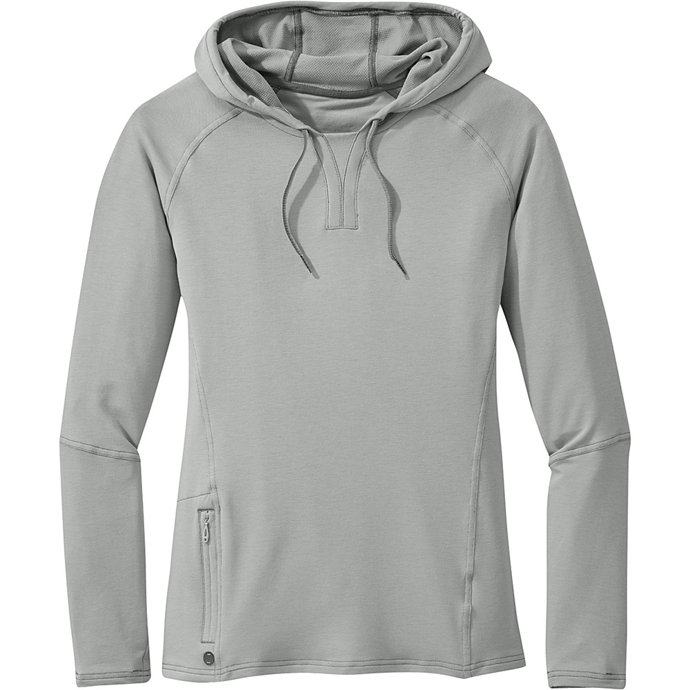 Outdoor Research Womens Ensenada Hoody L - Alloy - Outdoor Research Womens Apparel - Apparel & Footwear, Women's Apparel