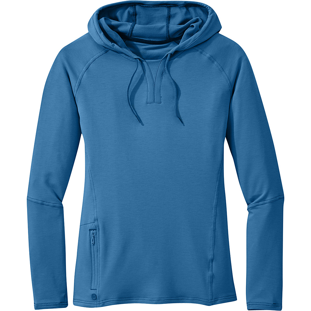 Outdoor Research Womens Ensenada Hoody L - Cornflower - Outdoor Research Womens Apparel - Apparel & Footwear, Women's Apparel