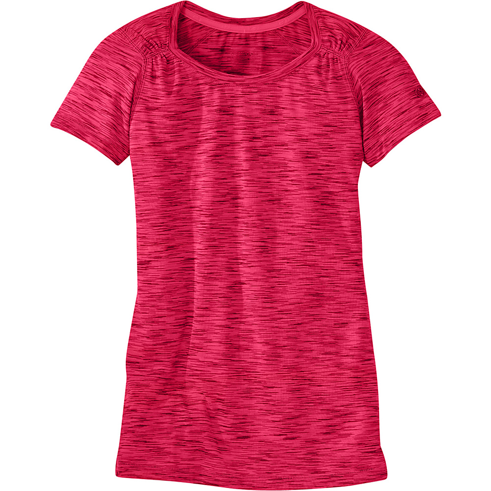 Outdoor Research Womens Flyway Short Sleeve Shirt XS - Scarlet - Outdoor Research Womens Apparel - Apparel & Footwear, Women's Apparel