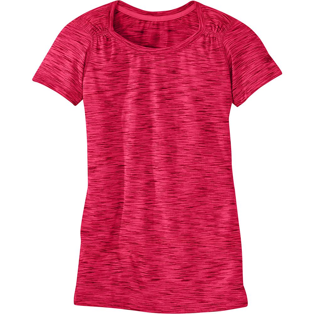 Outdoor Research Womens Flyway Short Sleeve Shirt M - Scarlet - Outdoor Research Womens Apparel - Apparel & Footwear, Women's Apparel