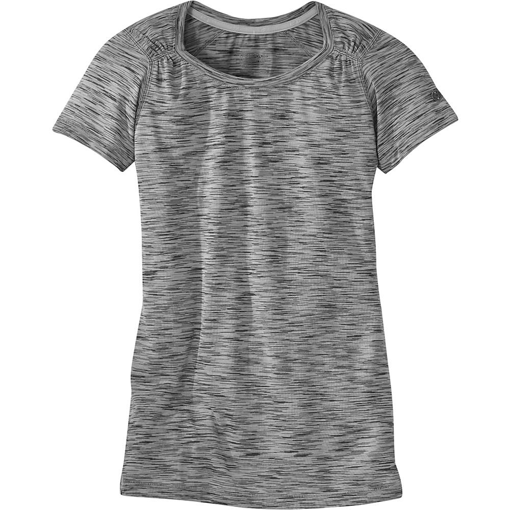 Outdoor Research Womens Flyway Short Sleeve Shirt L - Pewter - Outdoor Research Womens Apparel - Apparel & Footwear, Women's Apparel