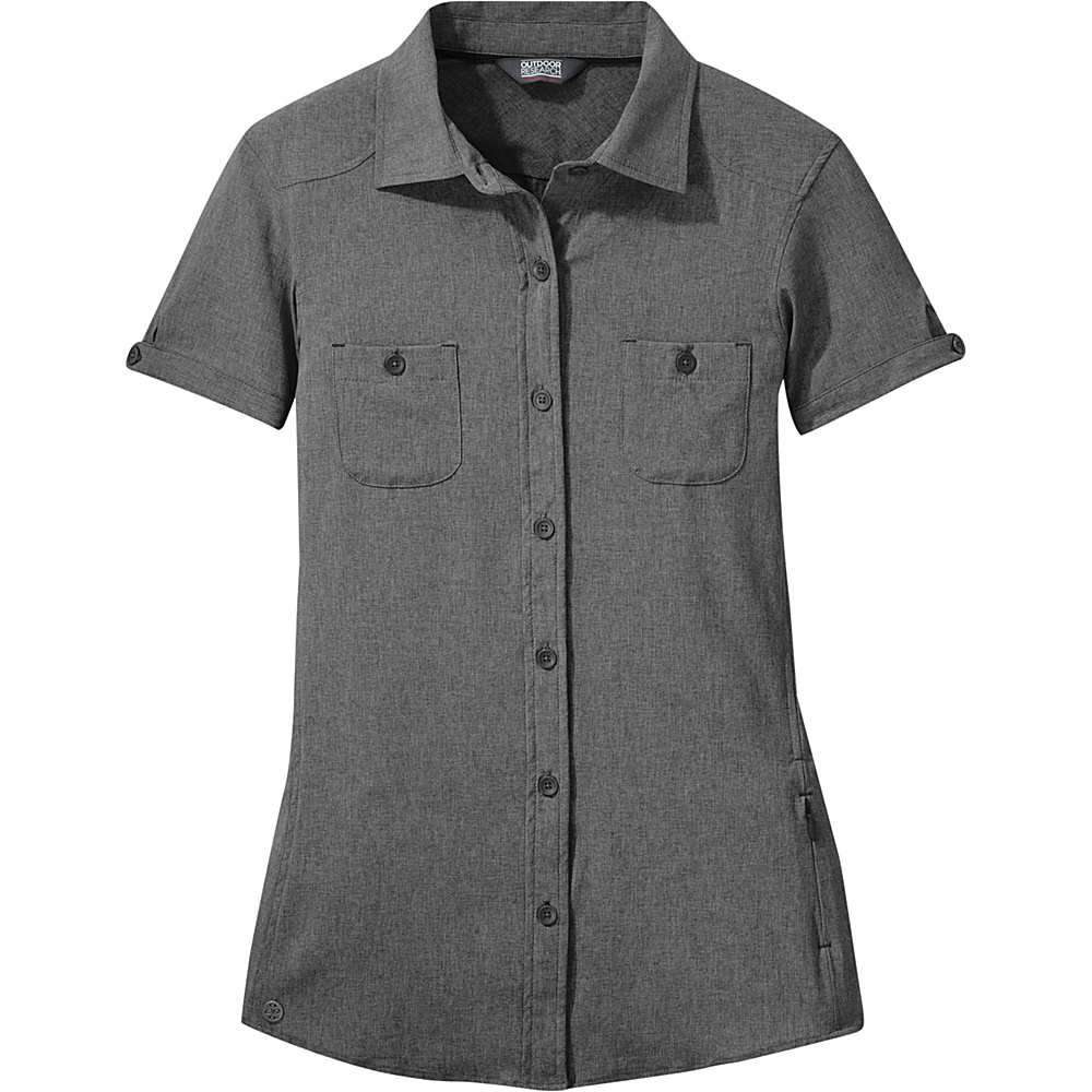 Outdoor Research Womens Reflection Short Sleeve Shirt L - Charcoal - Large - Outdoor Research Womens Apparel - Apparel & Footwear, Women's Apparel