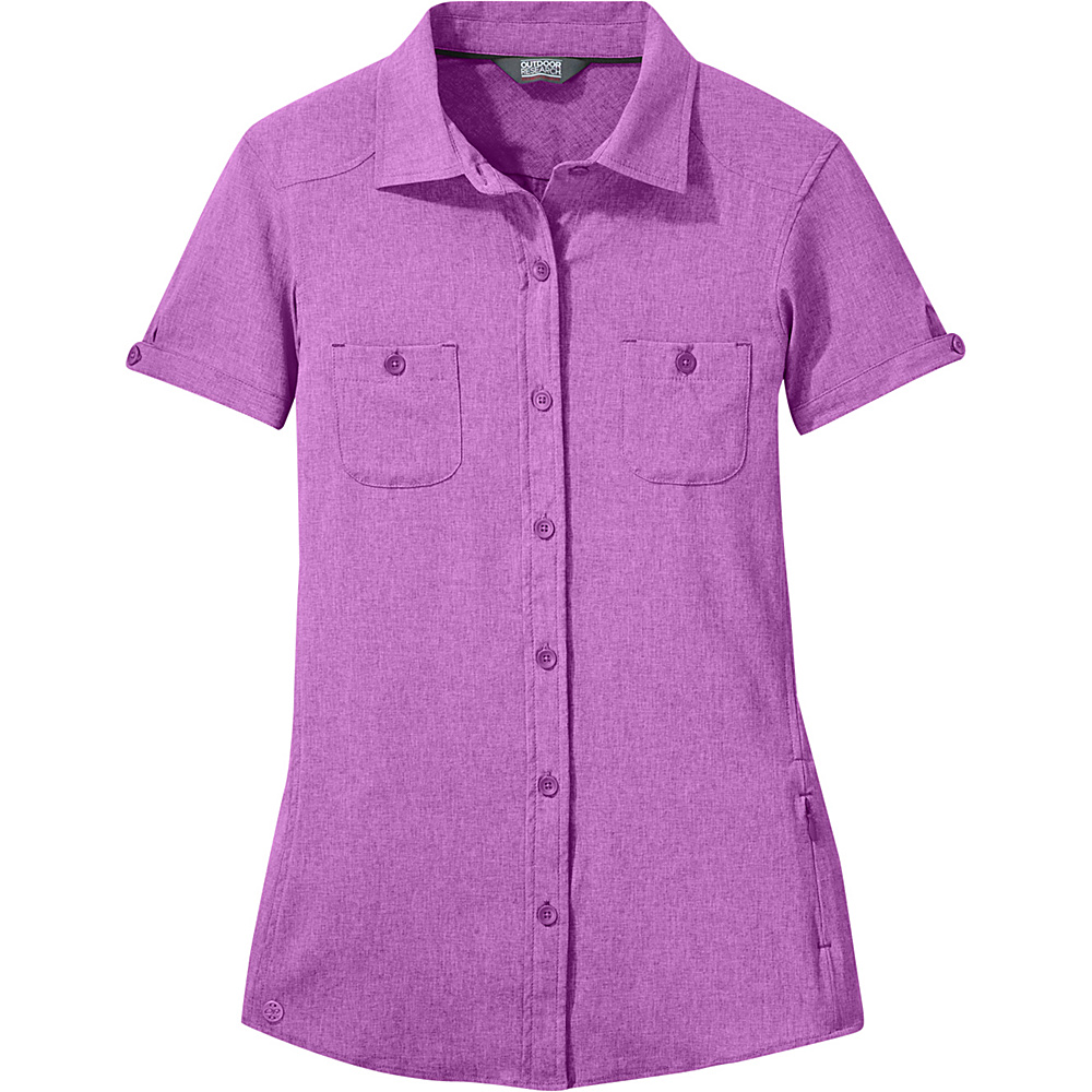 Outdoor Research Womens Reflection Short Sleeve Shirt L - Wisteria – Extra Large - Outdoor Research Womens Apparel - Apparel & Footwear, Women's Apparel