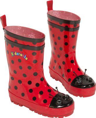 Kidorable Ladybug Rain Boots 7