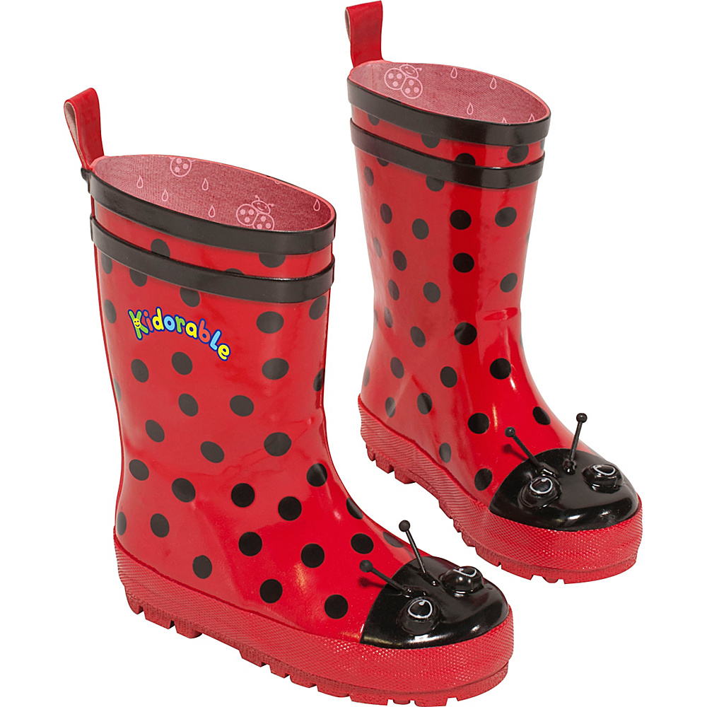 Kidorable Ladybug Rain Boots 9 (US Toddlers) - M (Regular/Medium) - Red - Kidorable Mens Footwear - Apparel & Footwear, Men's Footwear