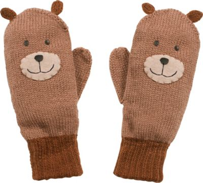 Kidorable Bear Knit Mittens S - Brown - Kidorable Hats/Gloves/Scarves