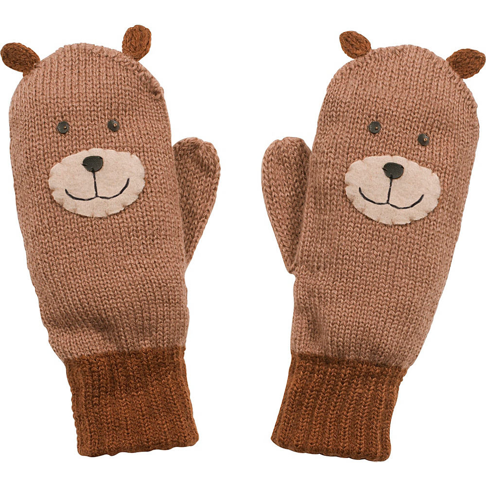 Kidorable Bear Knit Mittens Brown Medium Kidorable Hats Gloves Scarves