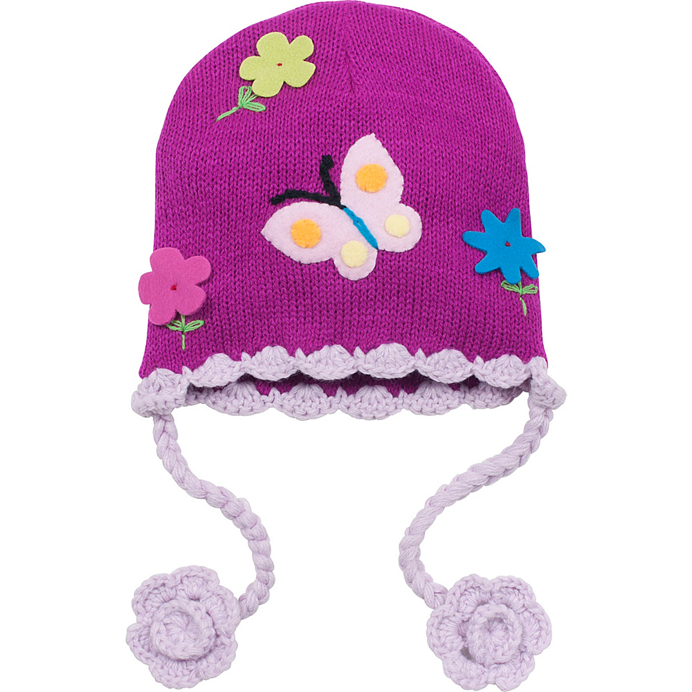 Kidorable Butterfly Knit Hat One Size - Purple - One Size - Kidorable Hats/Gloves/Scarves - Fashion Accessories, Hats/Gloves/Scarves