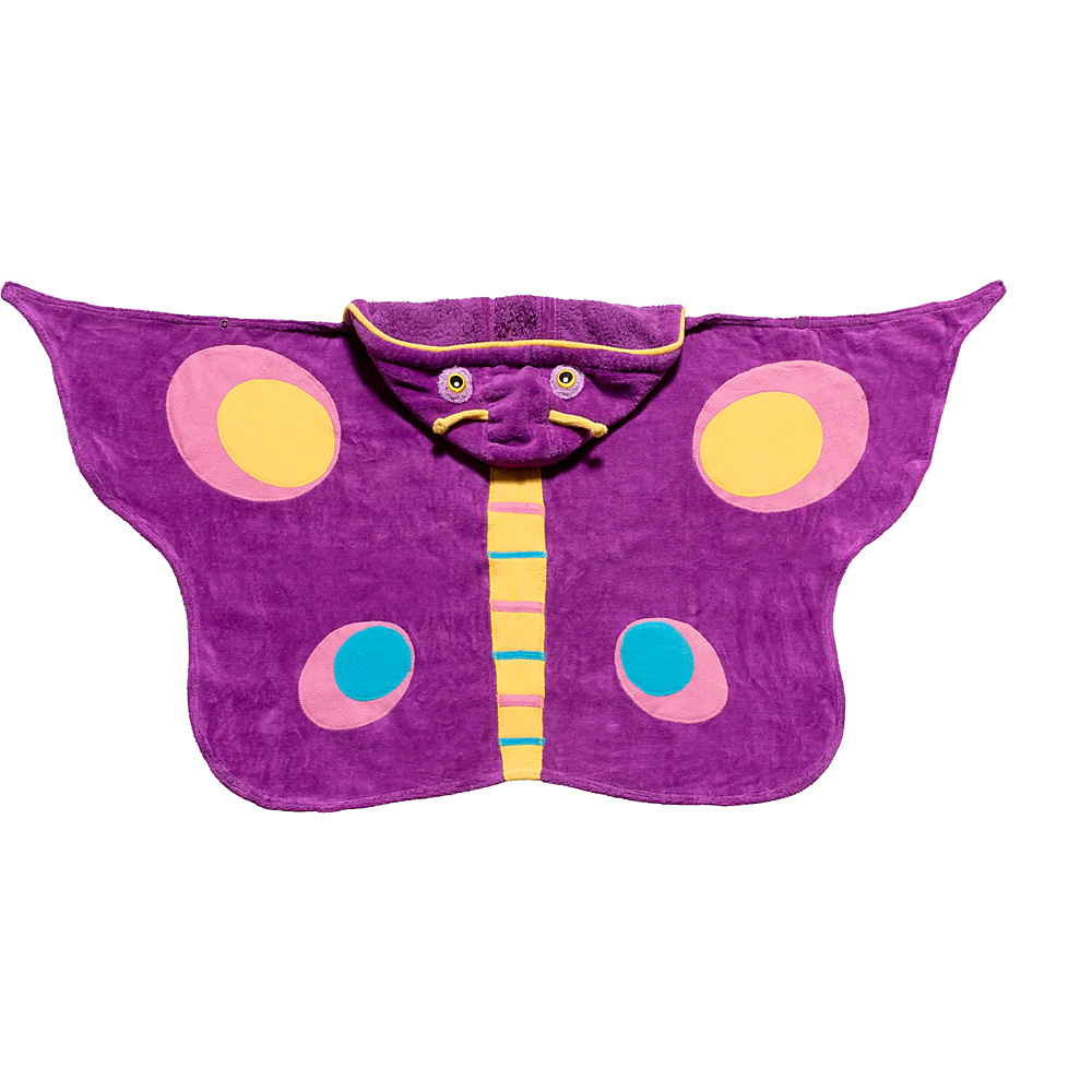 Kidorable Butterfly Hooded Towel Purple - Medium - Kidorable Travel Health & Beauty - Travel Accessories, Travel Health & Beauty