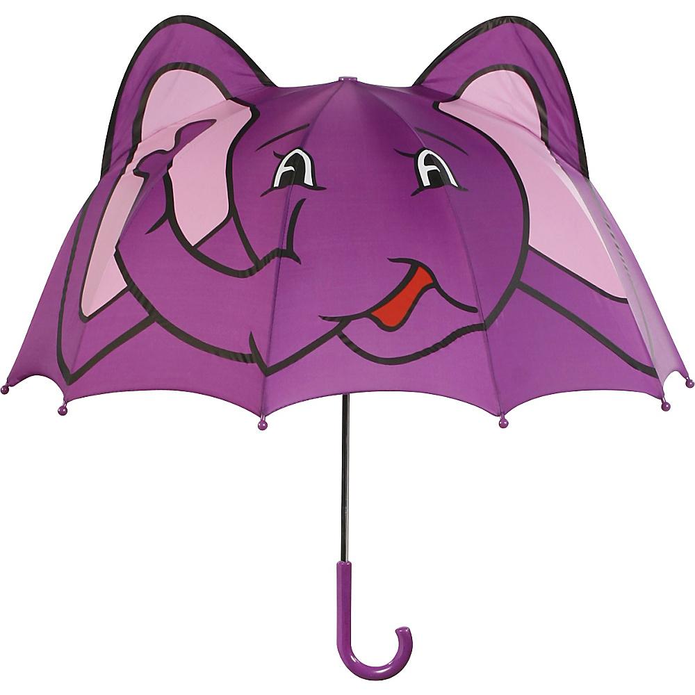 Kidorable Elephant Umbrella Purple - One Size - Kidorable Umbrellas and Rain Gear - Travel Accessories, Umbrellas and Rain Gear