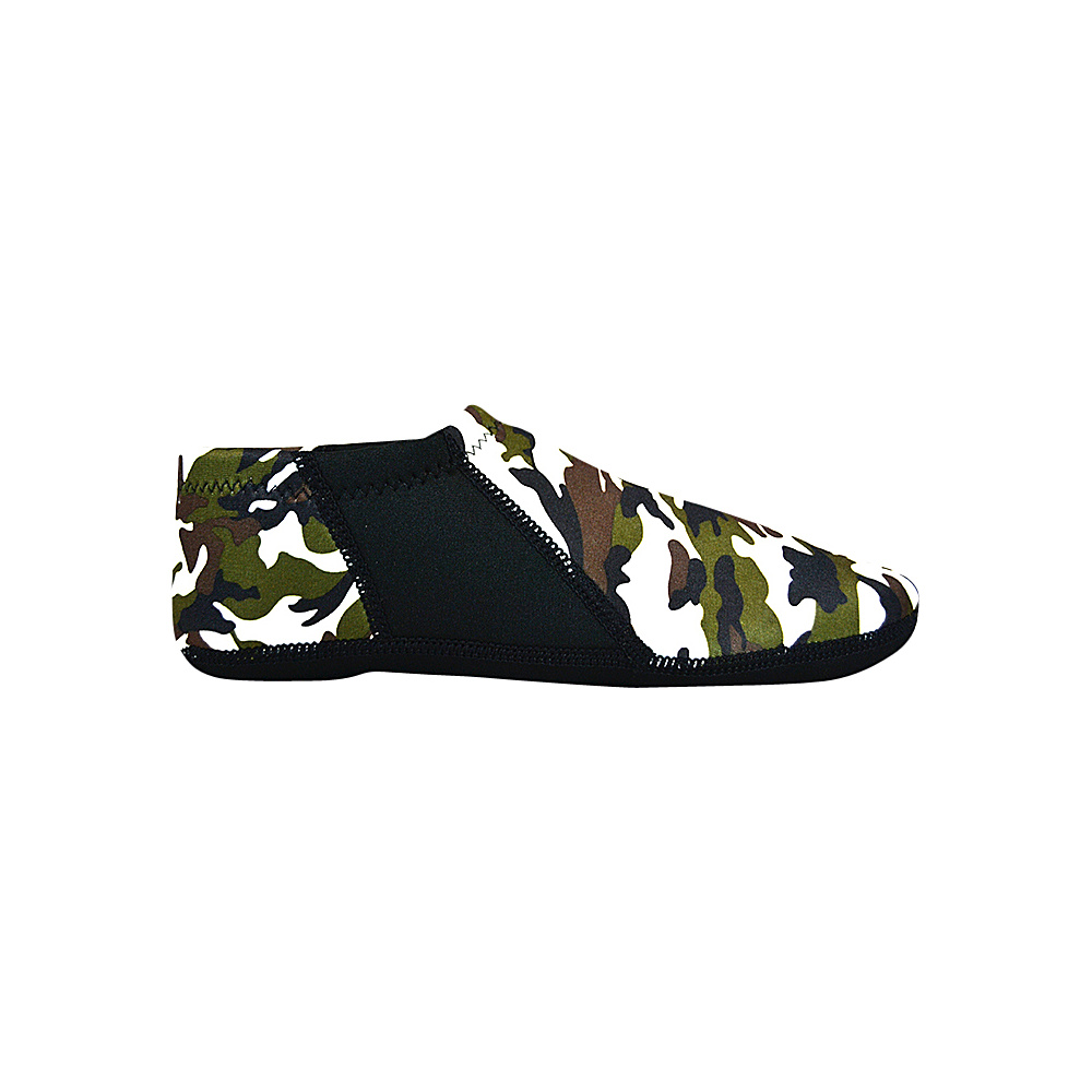 NuFoot Travel Slipper Booties Camo Small NuFoot Men s Footwear