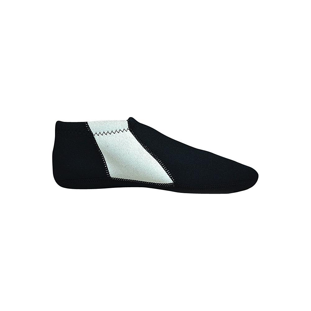 NuFoot Travel Slipper Booties Black Gray Stripe Large NuFoot Men s Footwear