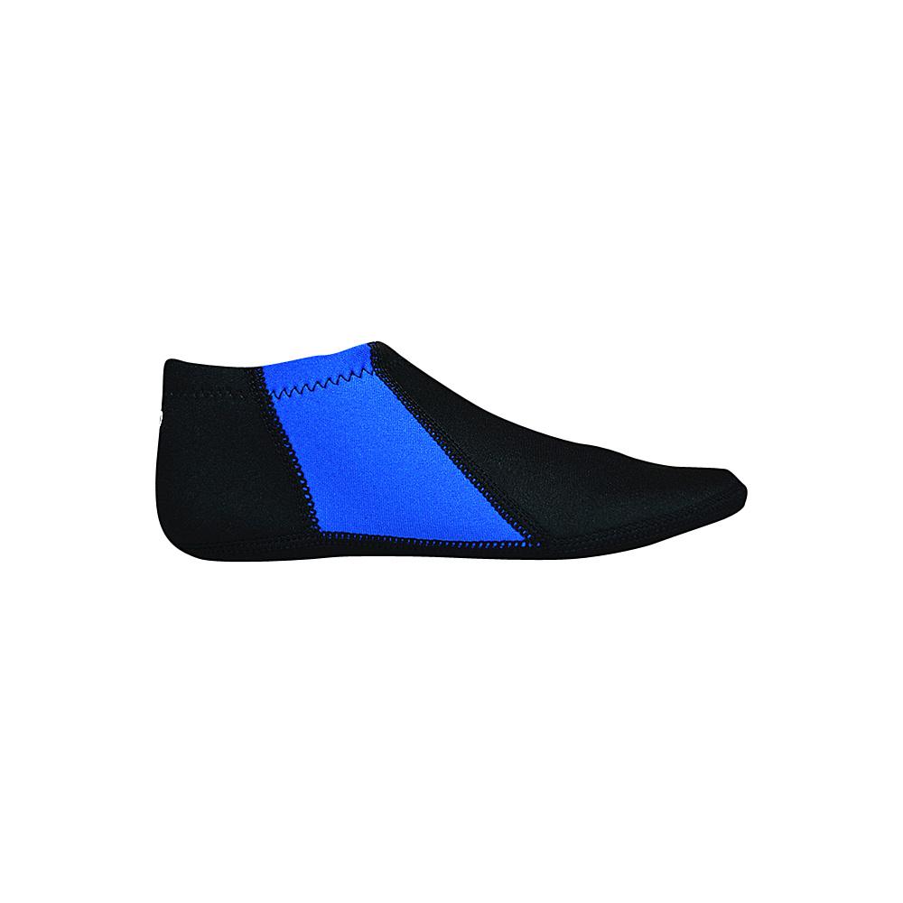 NuFoot Travel Slipper Booties Black Royal Stripe Small NuFoot Men s Footwear