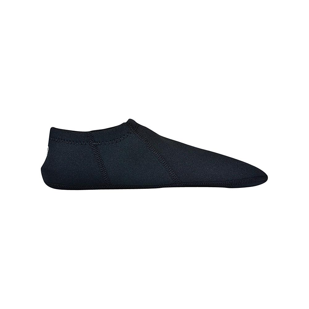 NuFoot Travel Slipper Booties Black Black Stripe Extra Large NuFoot Men s Footwear
