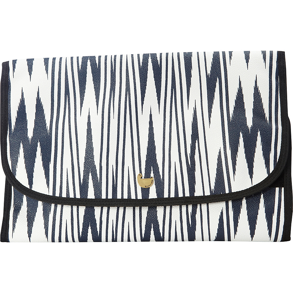 Buxton Chevron Travel Collection Hanging Cosmetic Case Navy - Buxton Travel Health & Beauty - Travel Accessories, Travel Health & Beauty