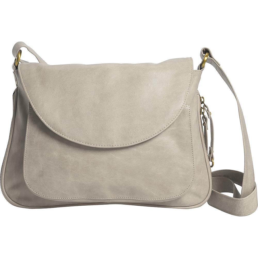 Latico Leathers Tiffin Shoulder Bag Crackle White - Latico Leathers Leather Handbags - Handbags, Leather Handbags