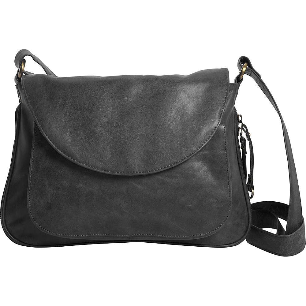 Latico Leathers Tiffin Shoulder Bag Washed Black - Latico Leathers Leather Handbags - Handbags, Leather Handbags
