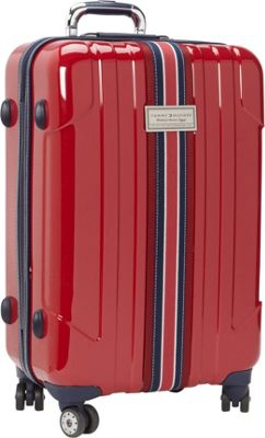 Tommy Hilfiger Luggage Santa Monica 25 inch Hardside Upright Spinner Dark Red - Tommy Hilfiger Luggage Softside Checked