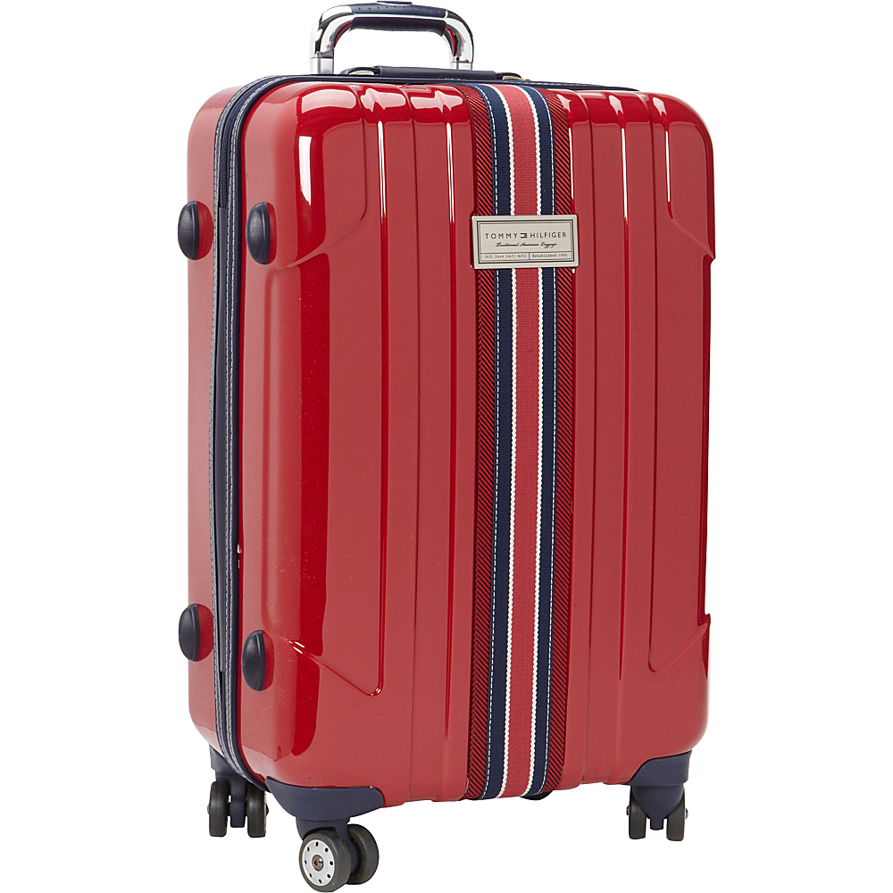 Tommy Hilfiger Luggage Santa Monica 25 Hardside Upright Spinner Dark Red Tommy Hilfiger Luggage Softside Checked