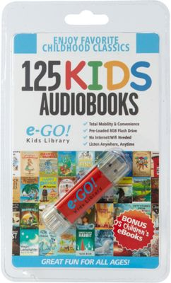 e-Go! Portable Library 125 Children's AudioBooks + 75 eBooks red - e-Go! Portable Library Electronic Accessories