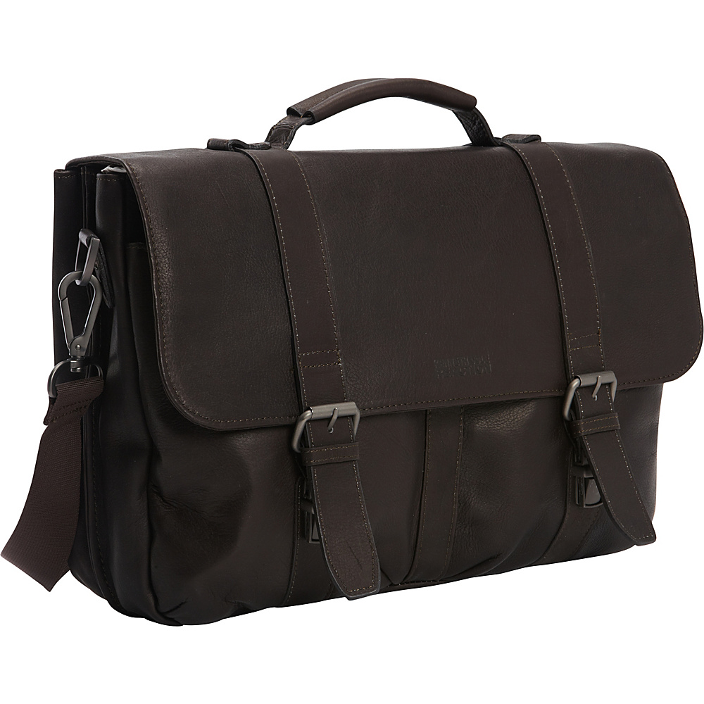 Kenneth Cole Reaction Flap Shot Leather Computer Portfolio Brown Kenneth Cole Reaction Non Wheeled Business Cases