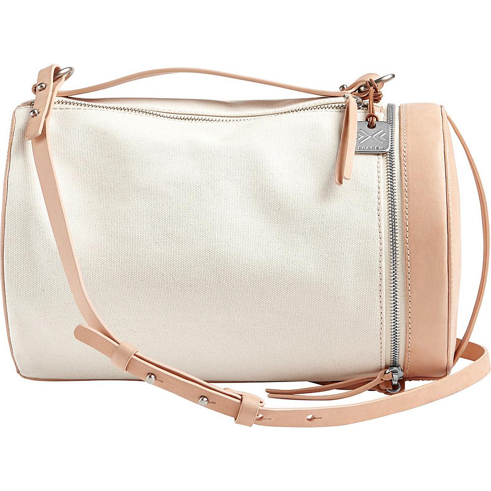 Skagen Trisse Linen Barrel Bag Natural - Skagen Fabric Handbags