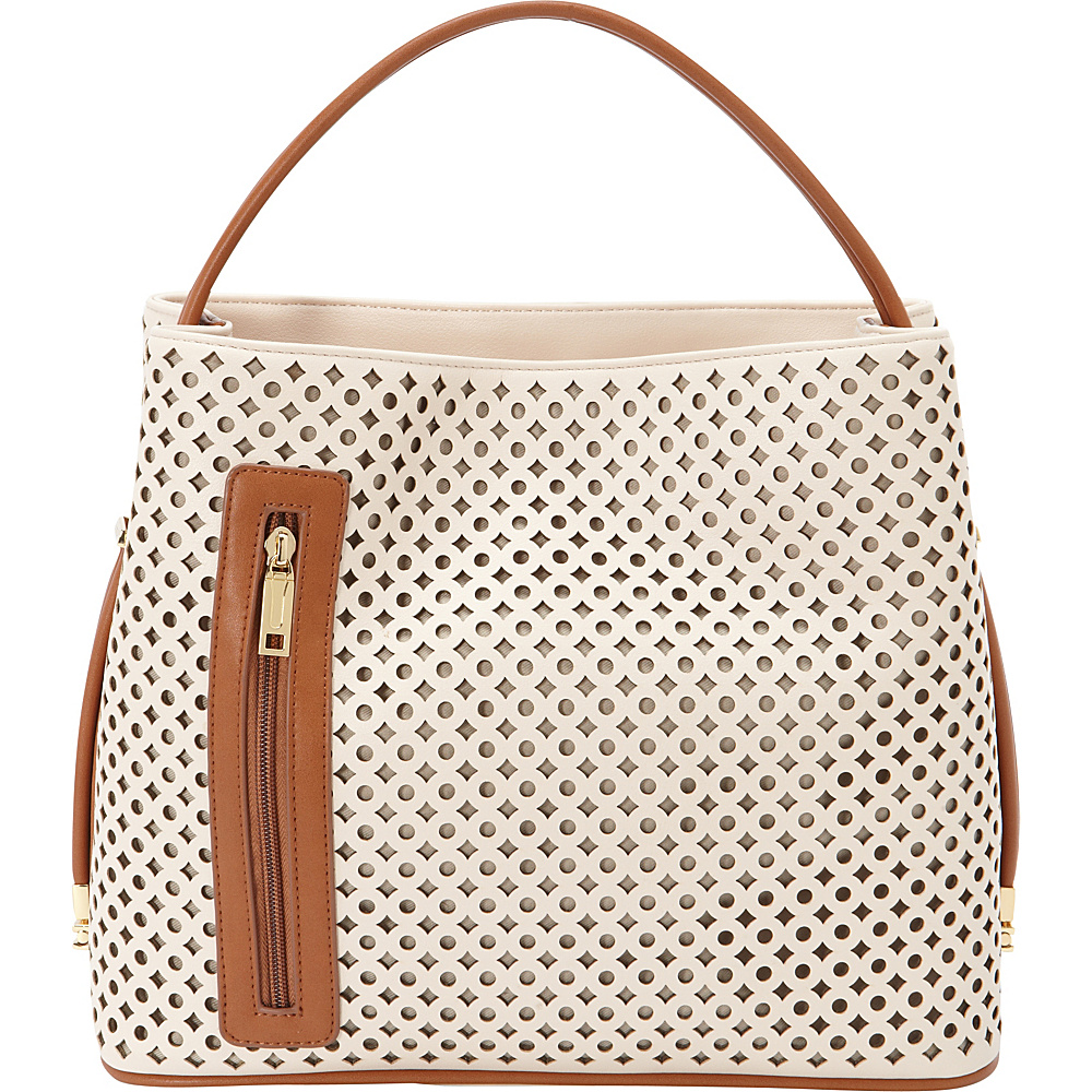 Samoe Tote Convertible Handbag Seashell Laser Cut Luggage Handle Tote Samoe Manmade Handbags