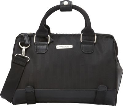 Po Campo Uptown Trunk Satchel Bag Black Herringbone - Po Campo Other Sports Bags