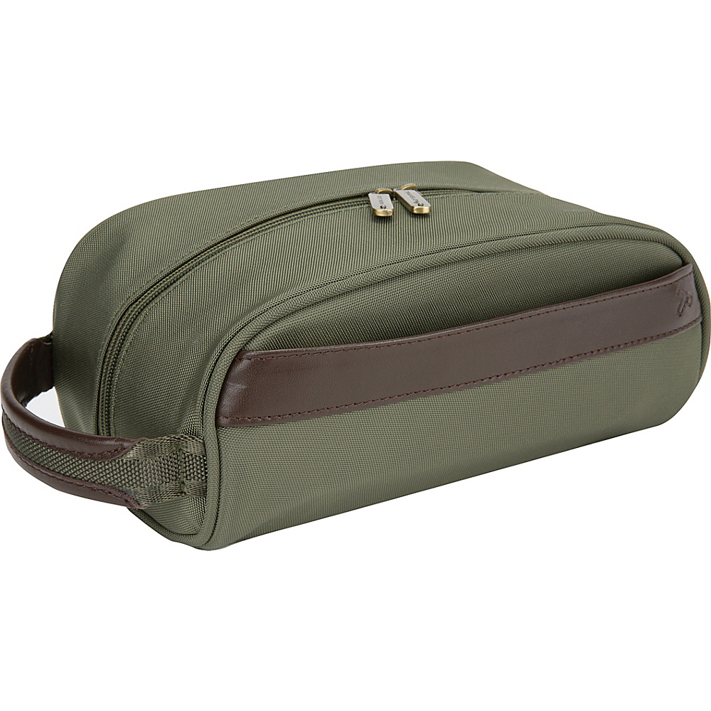 Travelon Classic Plus Top Zip Toiletry Kit Olive- Exclusive Color - Travelon Toiletry Kits - Travel Accessories, Toiletry Kits