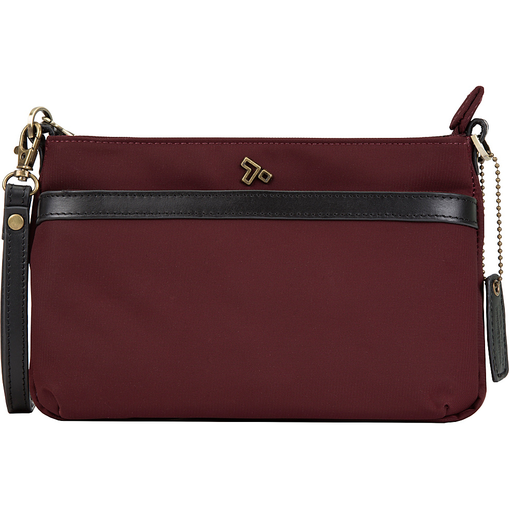 Travelon Anti-Theft LTD Clutch Crossbody Bag Wine - Travelon Fabric Handbags - Handbags, Fabric Handbags