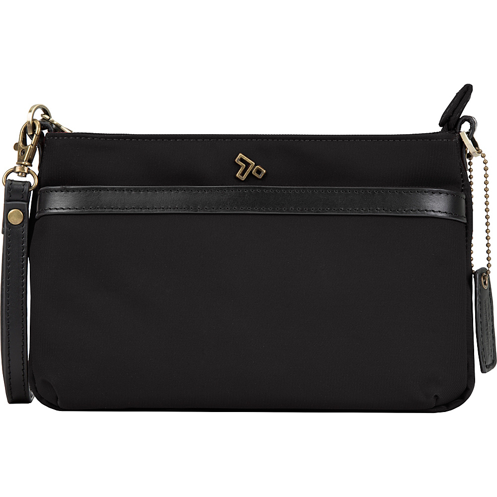 Travelon Anti-Theft LTD Clutch Crossbody Bag Black - Travelon Fabric Handbags - Handbags, Fabric Handbags